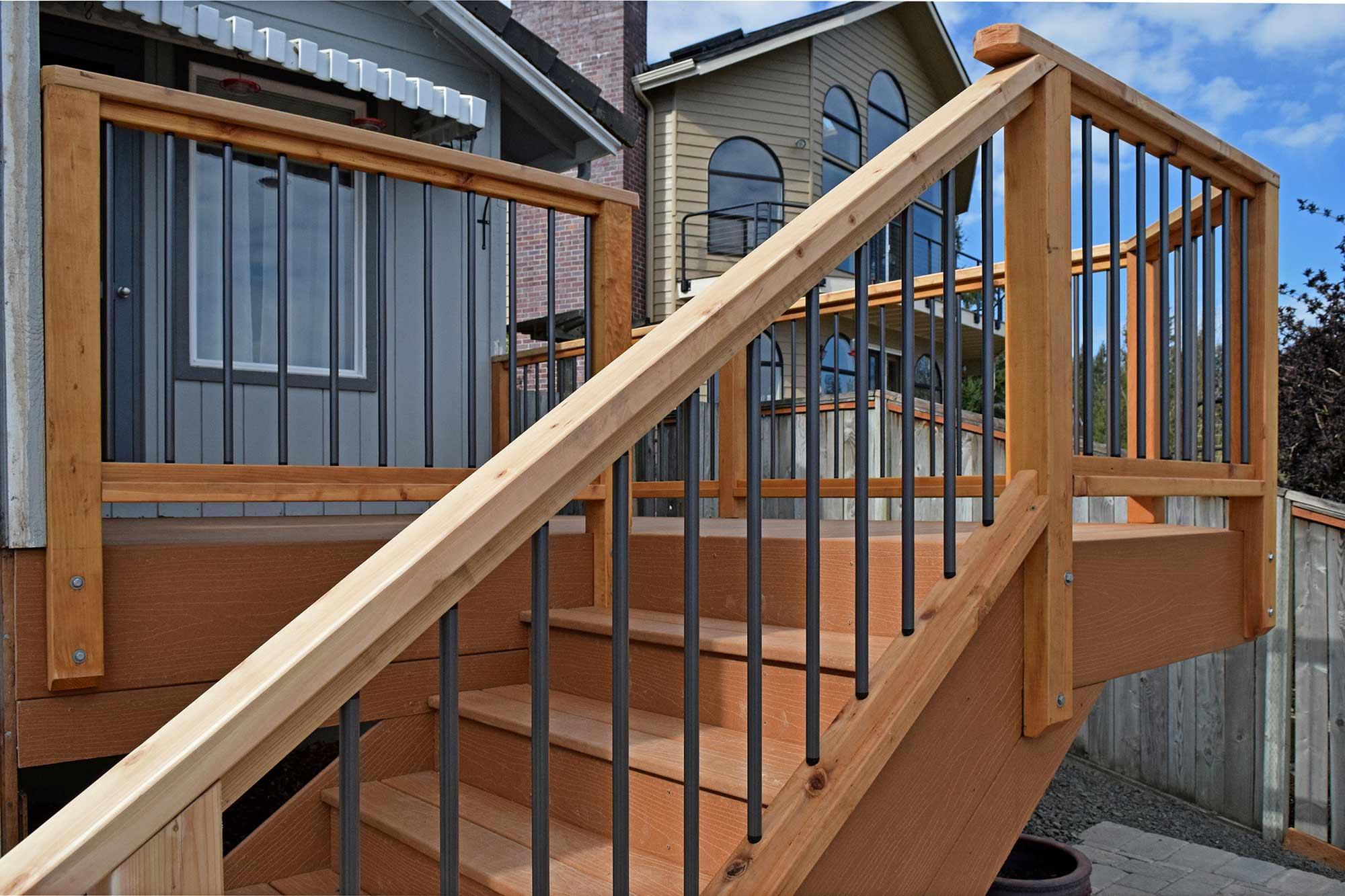 Composite decking material installation near yelm ajb for Composite decks