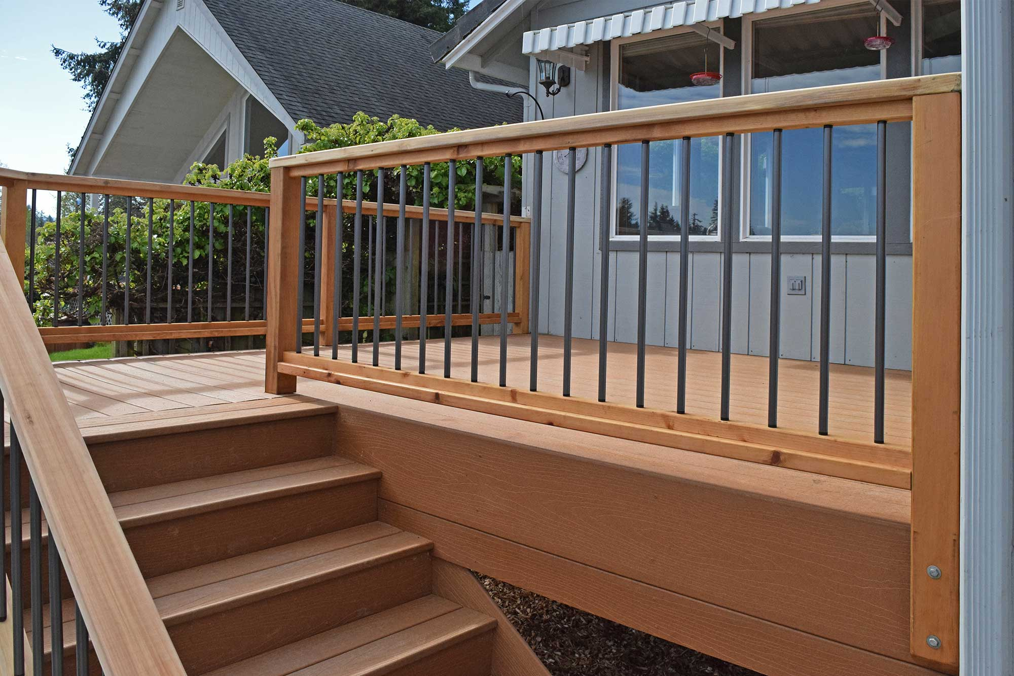 Composite decking material installation near yelm ajb for Building a composite deck