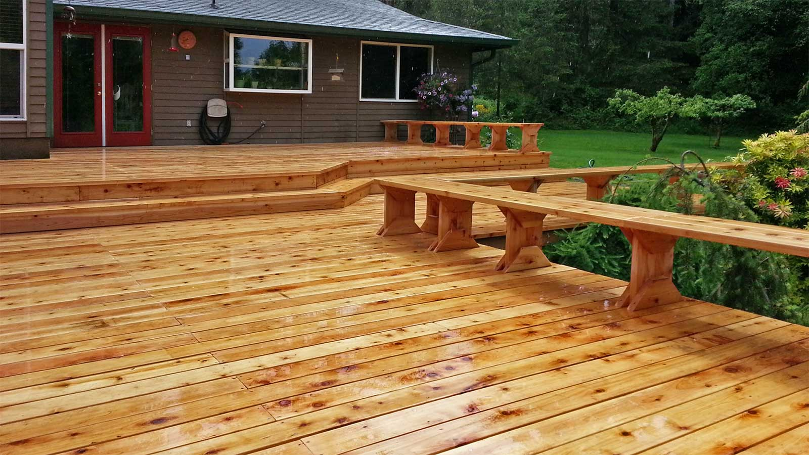 West Olympia Cedar Deck Replacement Ajb Landscaping Amp Fence