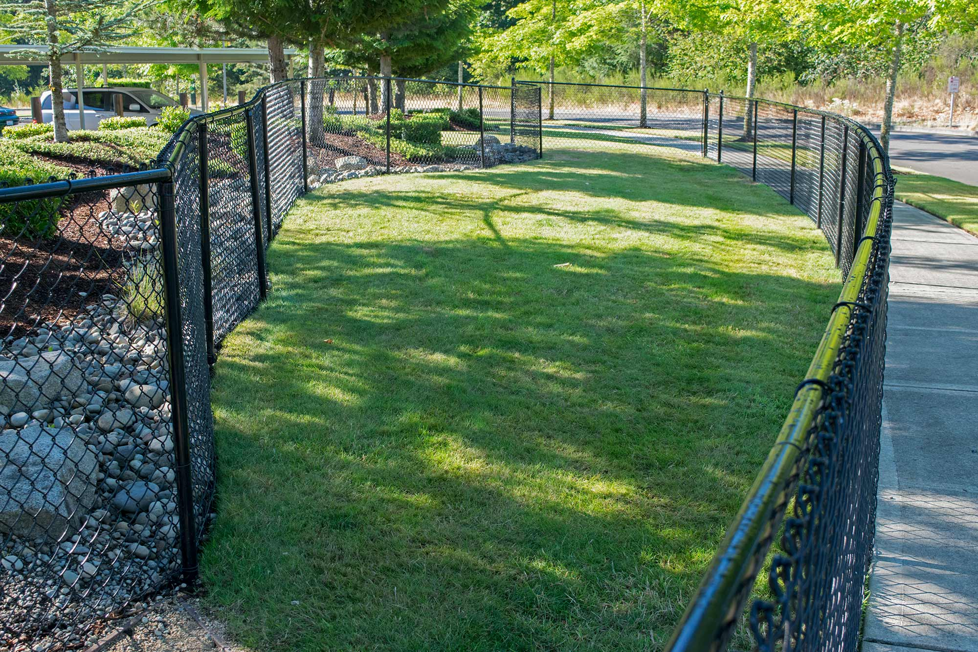 Pet Fence And Exercise Area In Dupont Ajb Landscaping