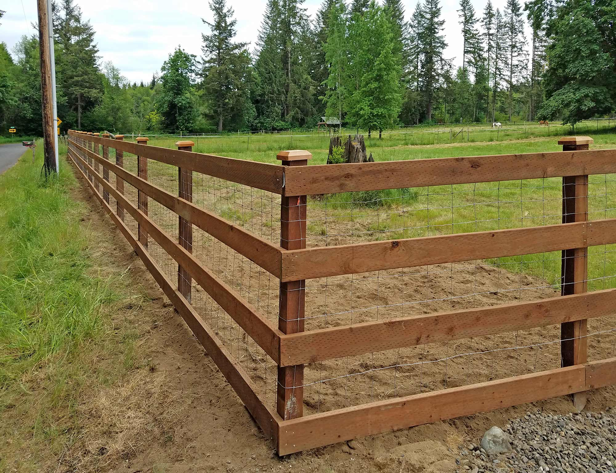 Farm fence built by AJB in Evergreen Valley