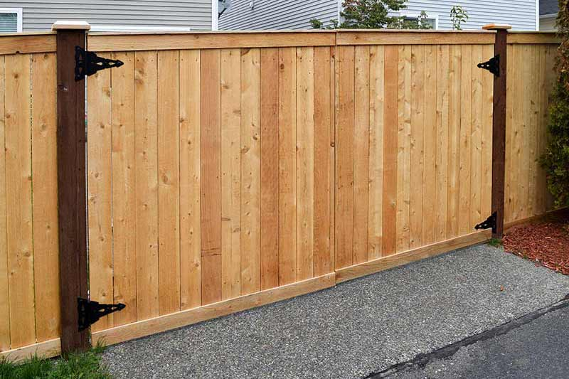 Quality cedar fence construction from AJB Services