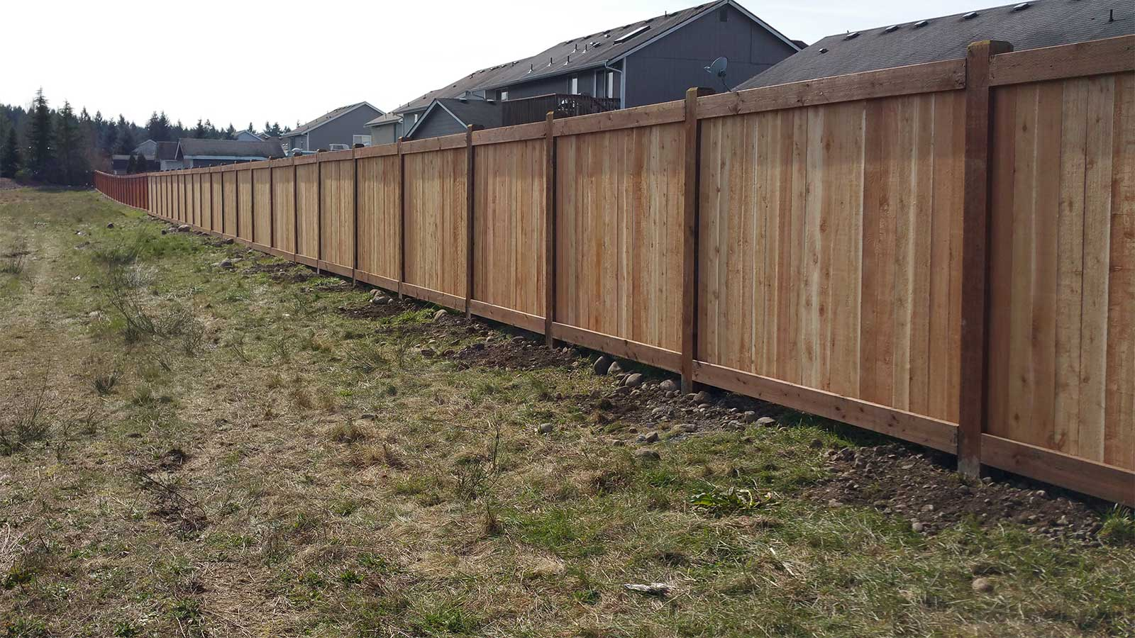Huge Fence For Spanaway Housing Development Ajb