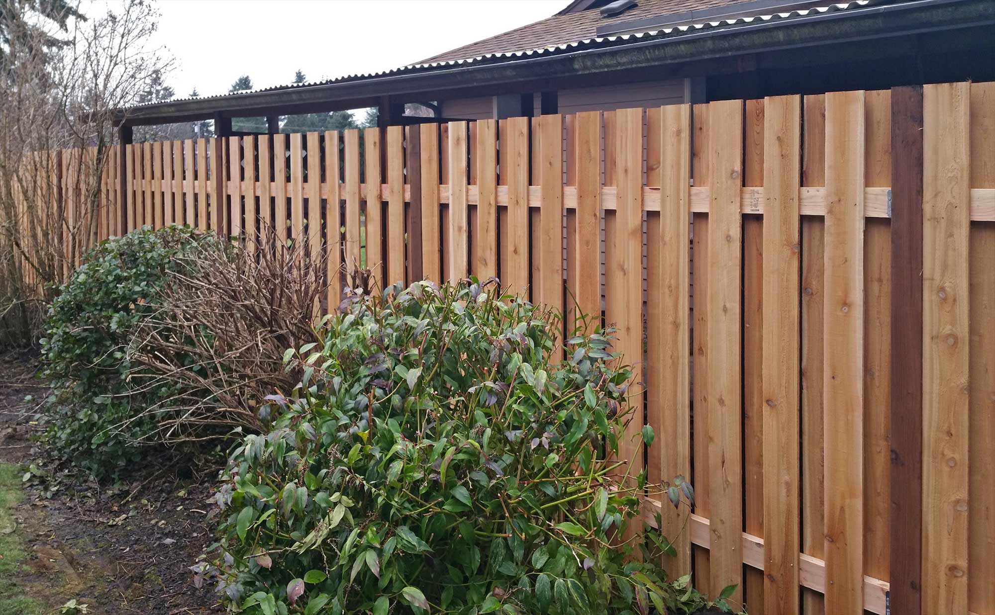 A good neighbor fence has the same profile on both sides, so there is no front or back, making it ideal for a shared fence line.