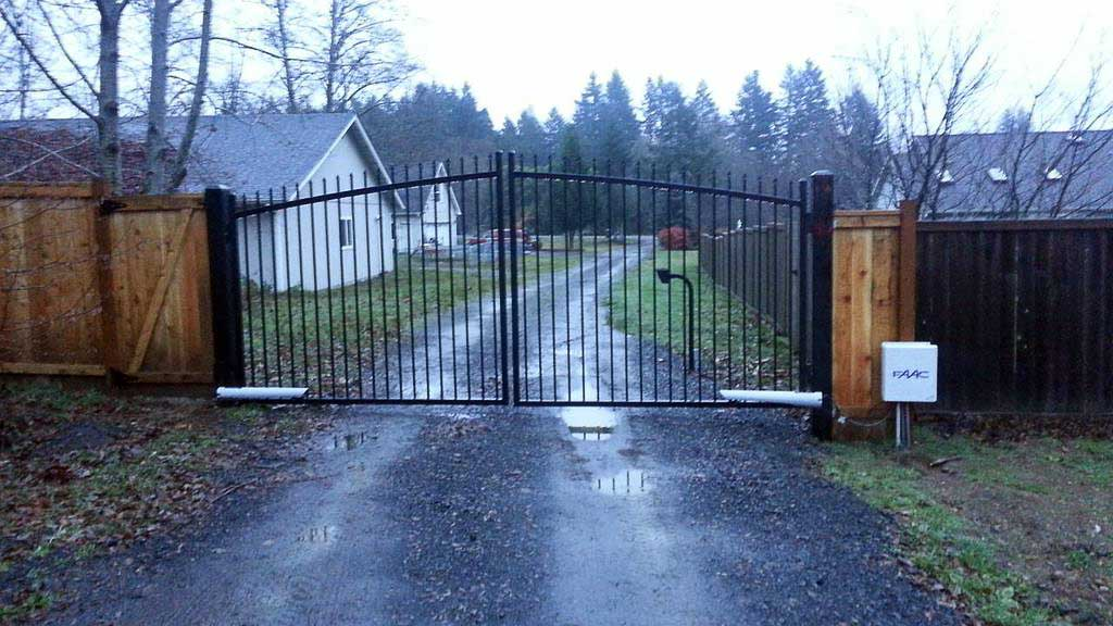 Electric double swing security gate with remote in Olympia, Washington