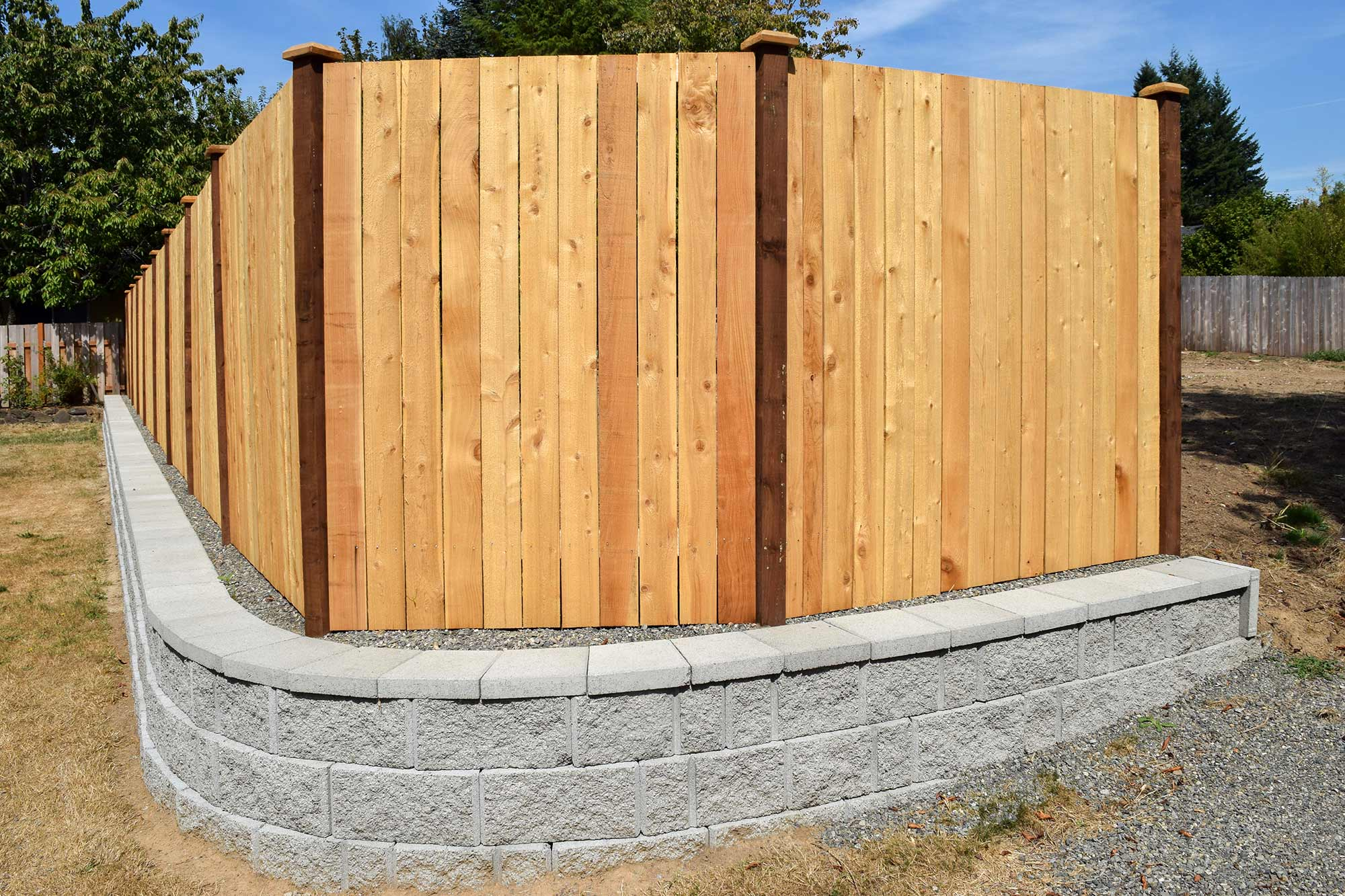 Panhandle Property Divider Fence, Retaining Wall in Tumwater - AJB ...
