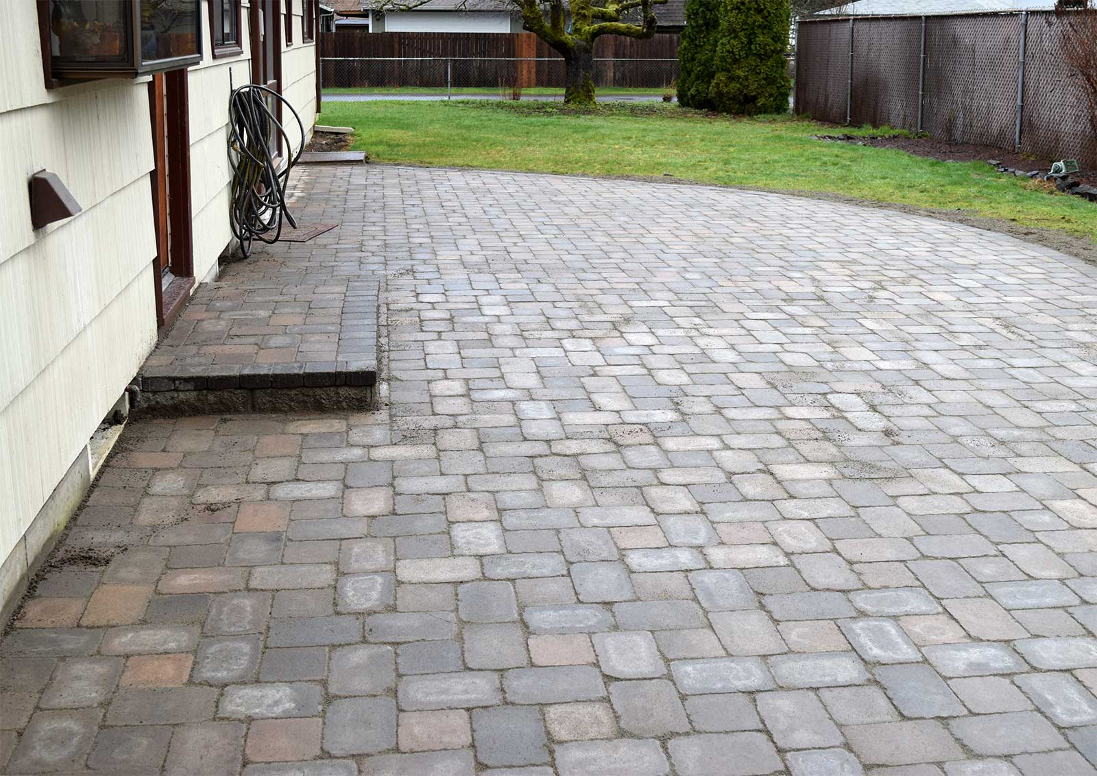 Roca Style Paver Patio in Lacey, Washington - AJB Landscaping & Fence