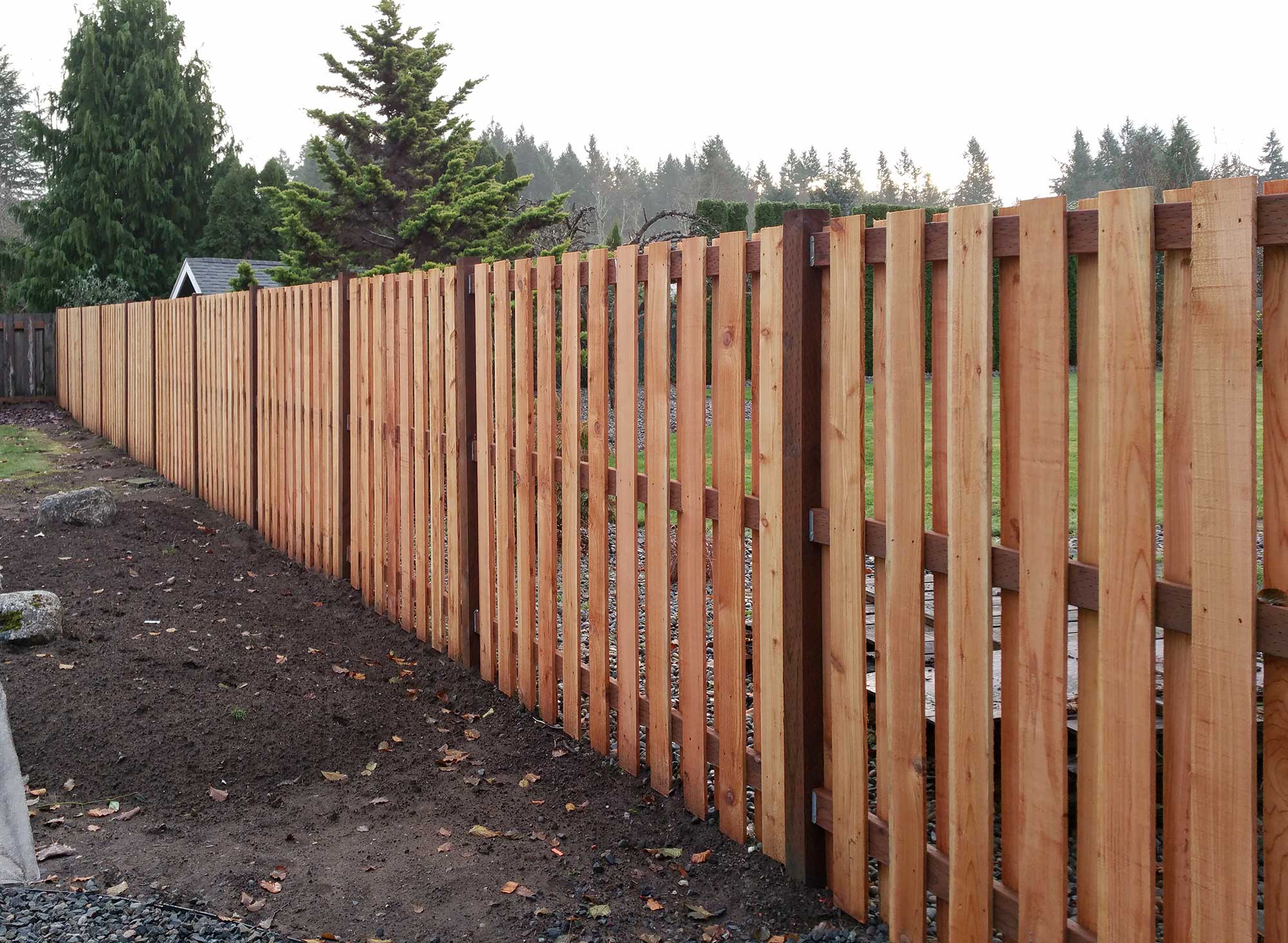 Paver Patio Fence In South Olympia Ajb Landscaping Fence