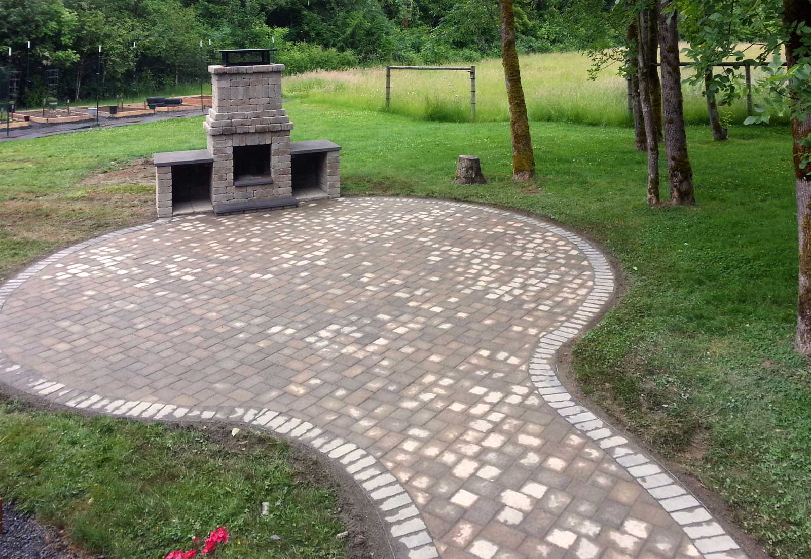 Chehalis Outdoor Fire Pit Matching Paver Patio Ajb