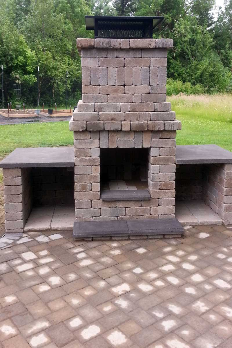 Chehalis Outdoor Fire Pit, Matching Paver Patio - AJB ... on Pavers Patio With Fire Pit id=66376