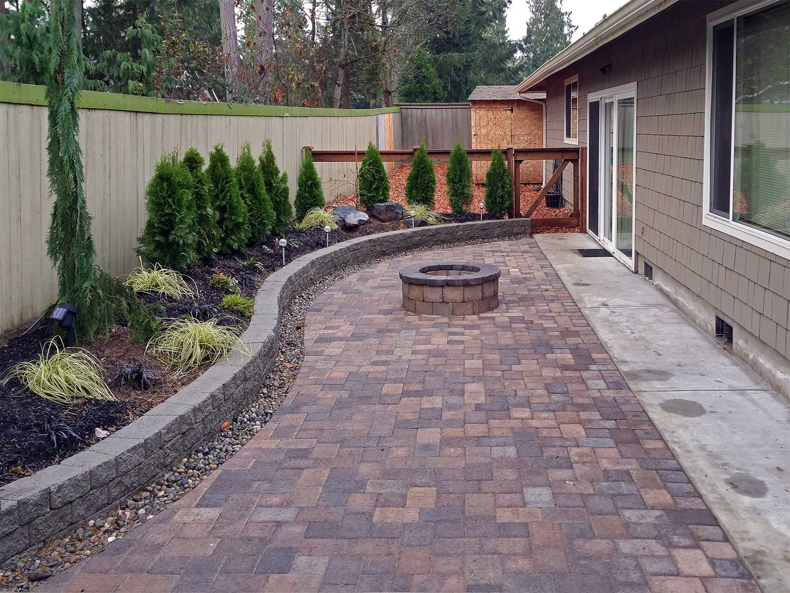 Paver Patio U0026 Fire Pit Paver Patio U0026 Fire Pit ...