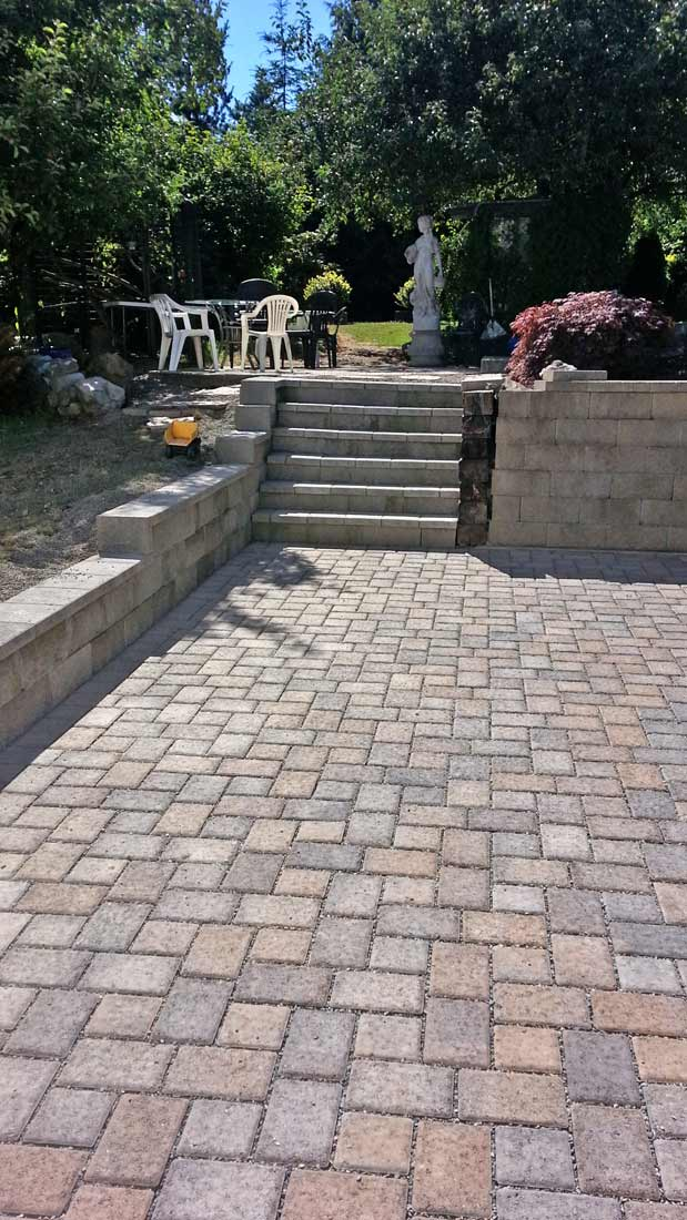 Thurston county paver and drainage system installation for Patio drainage