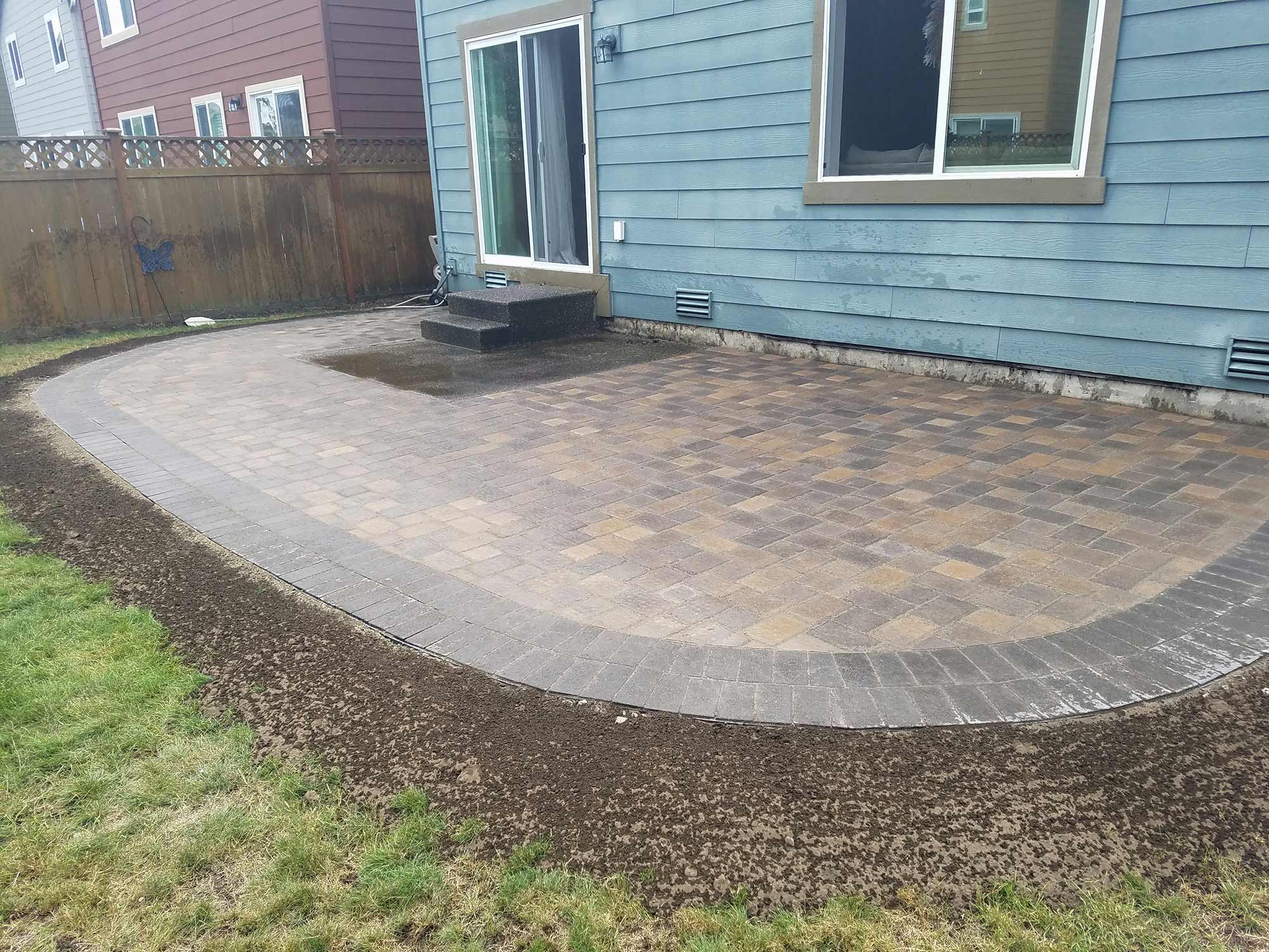 Paver Patio With Double Border Paver Patio With Double Border ...