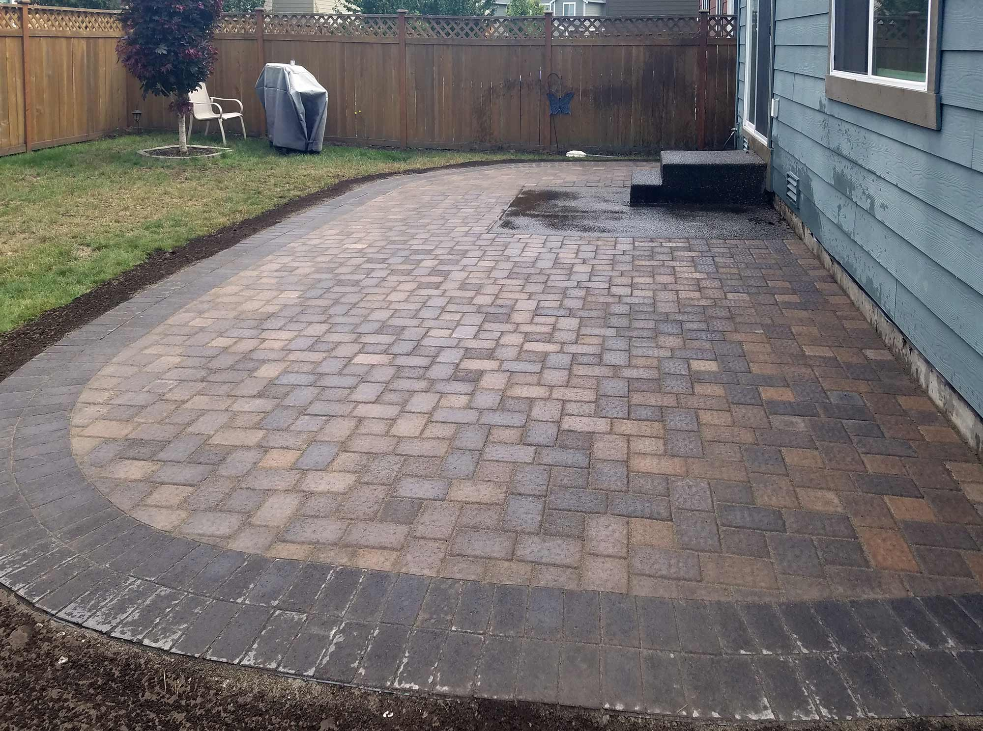Lacey Paver Patio Extension AJB Landscaping & Fence