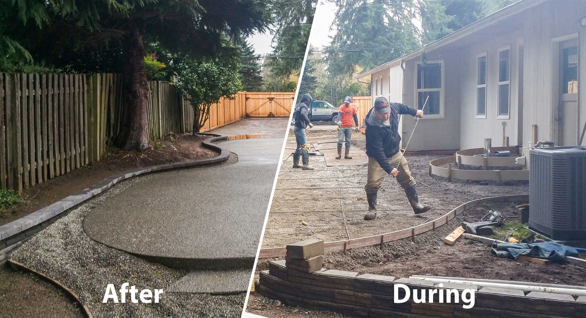 concrete and paver patio installation in olympia and tacoma puget