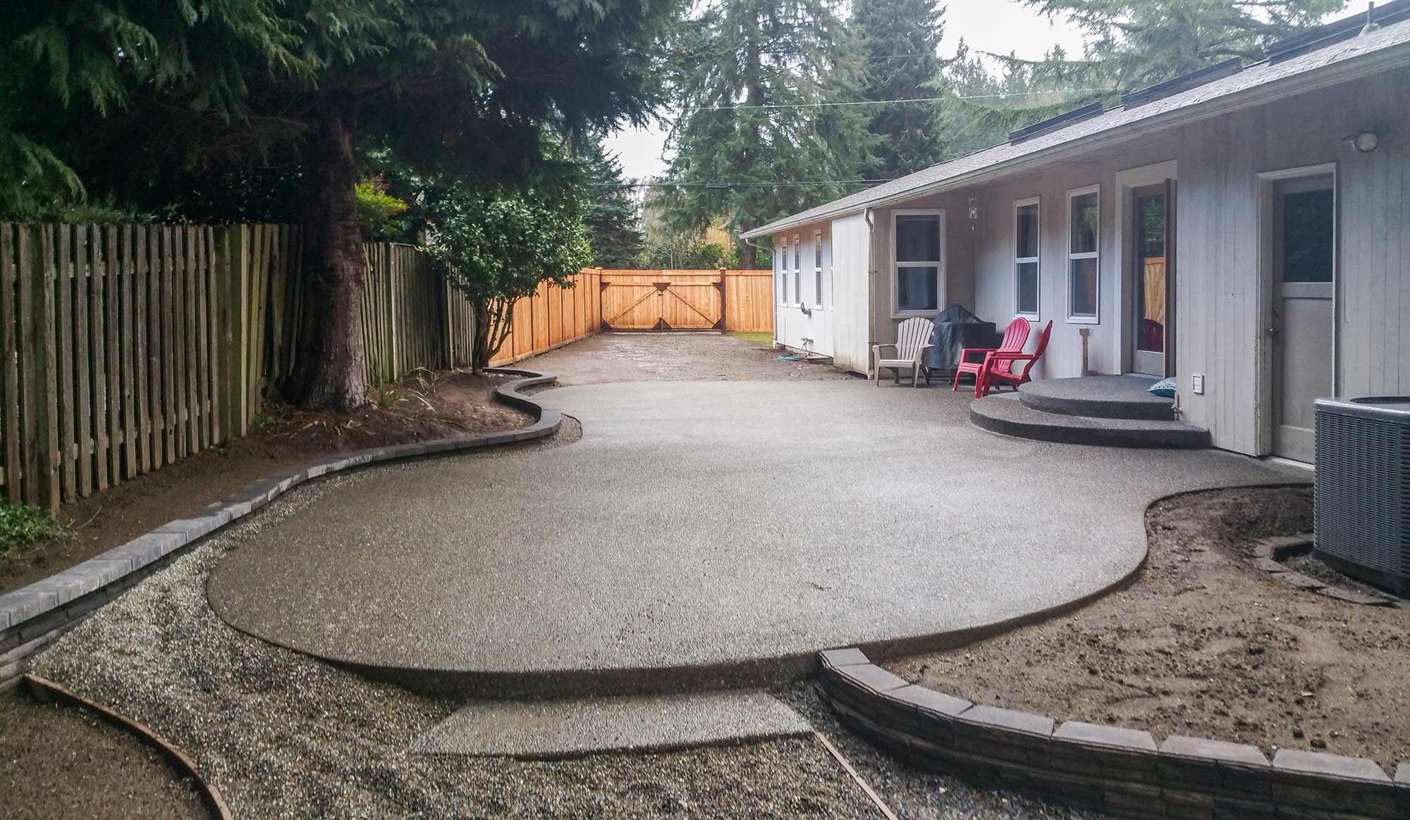 Aggregate Concrete Patio