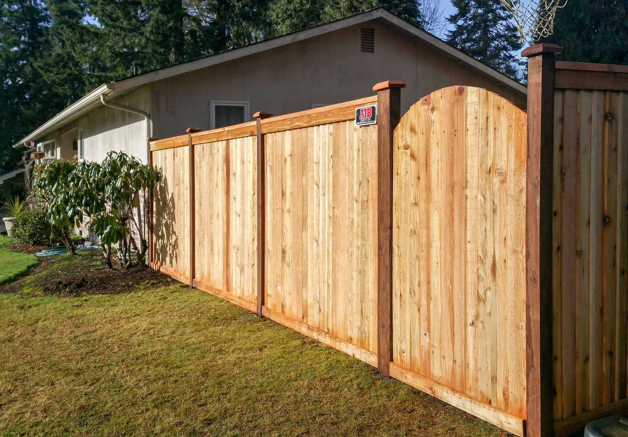 Backyard Privacy Fence.Tired Of Your Old Paling Fence Would Any ...