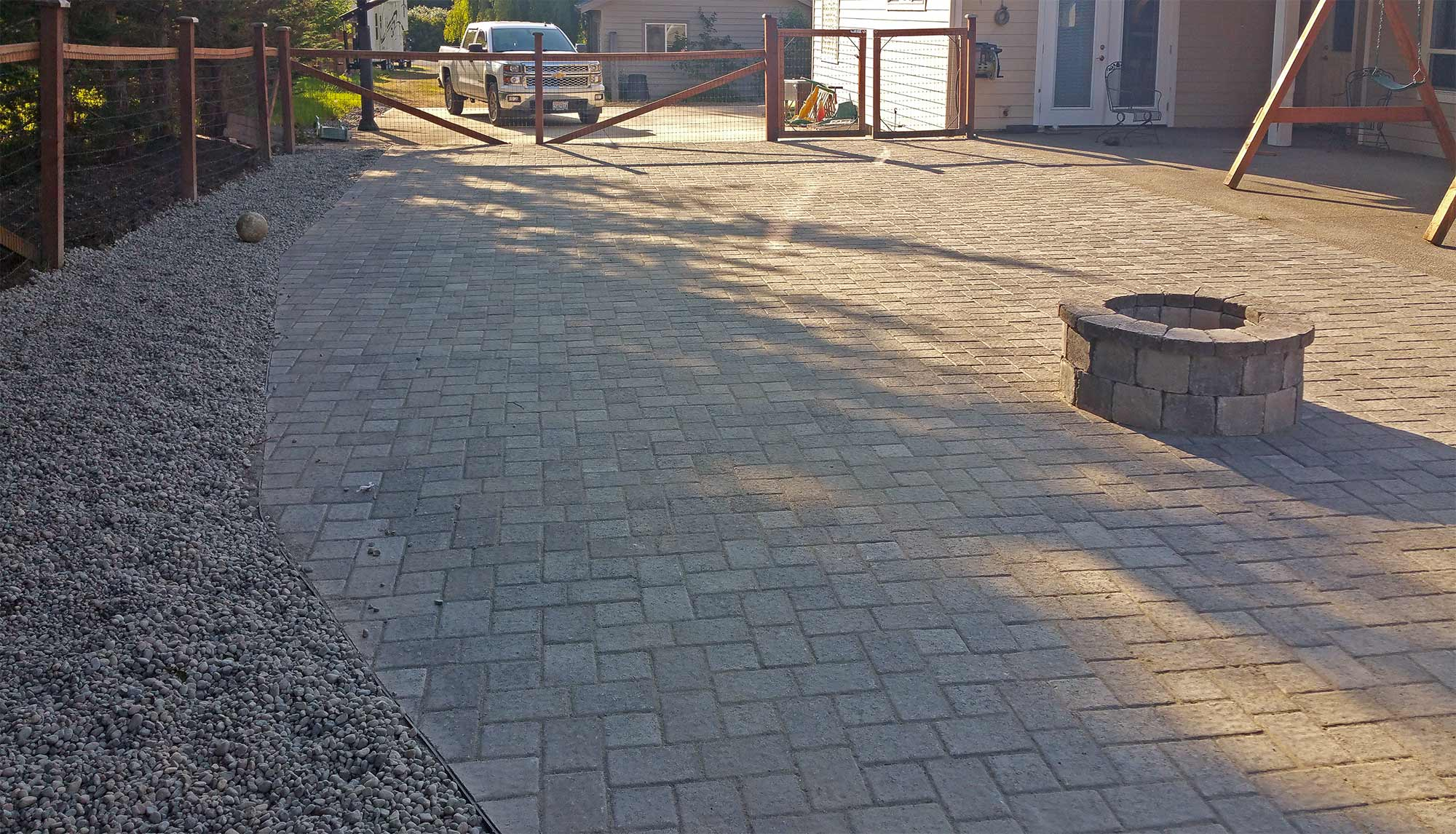 Paver Patio Extension in Boston Harbor - AJB Landscaping & Fence