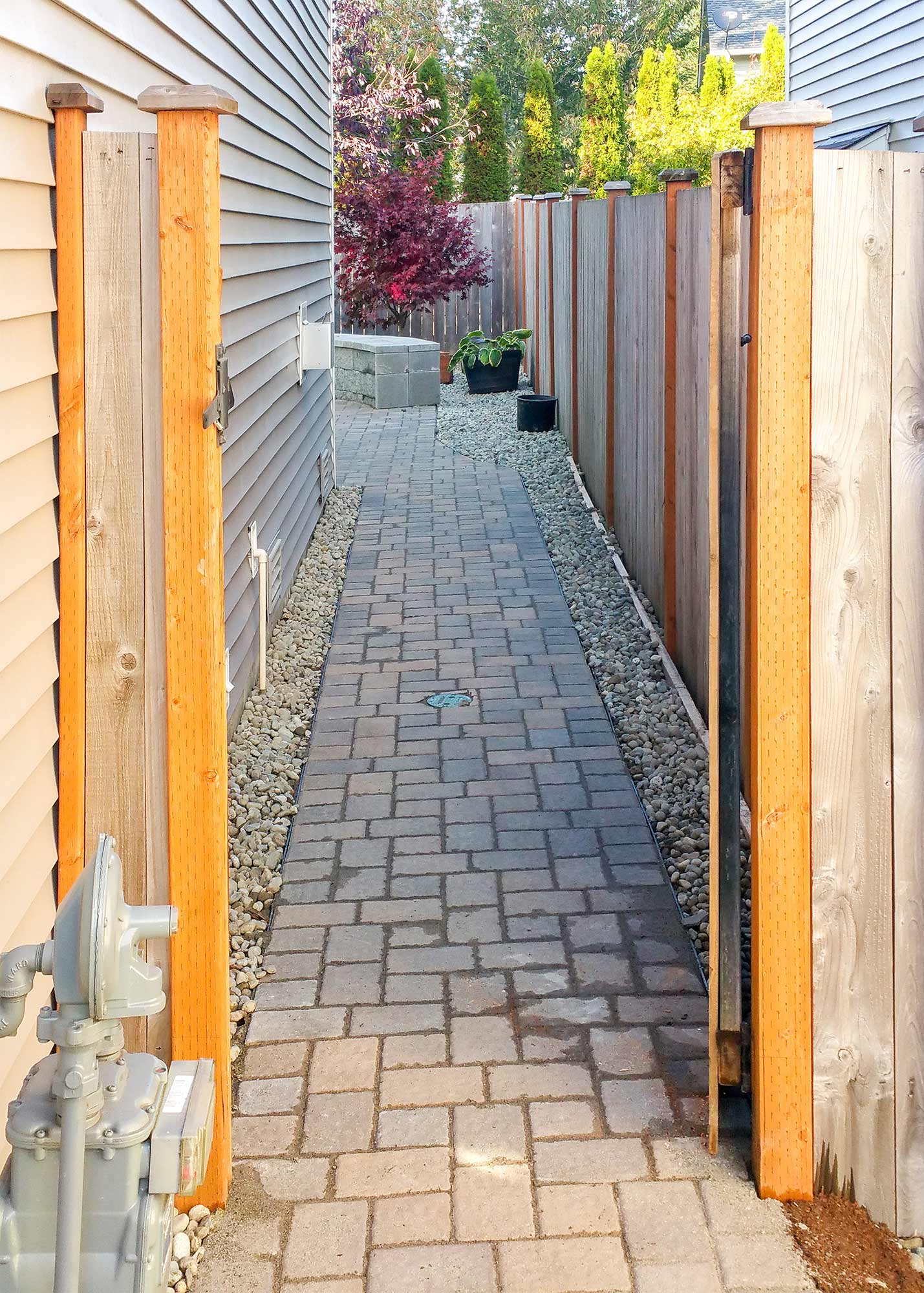 Backyard Transformation in Tumwater AJB Landscaping & Fence