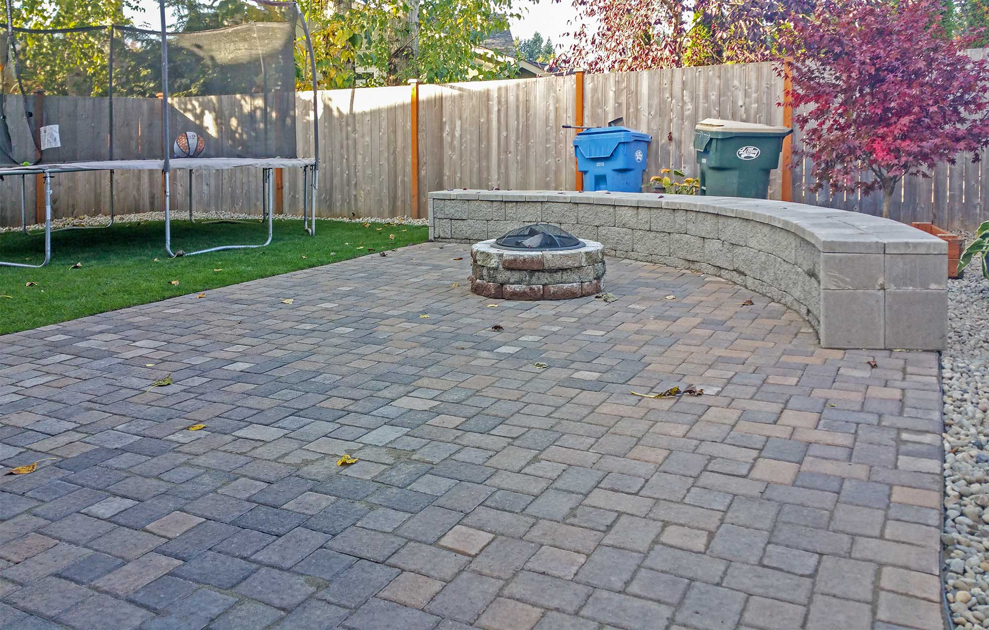 Backyard Transformation In Tumwater Ajb Landscaping Amp Fence