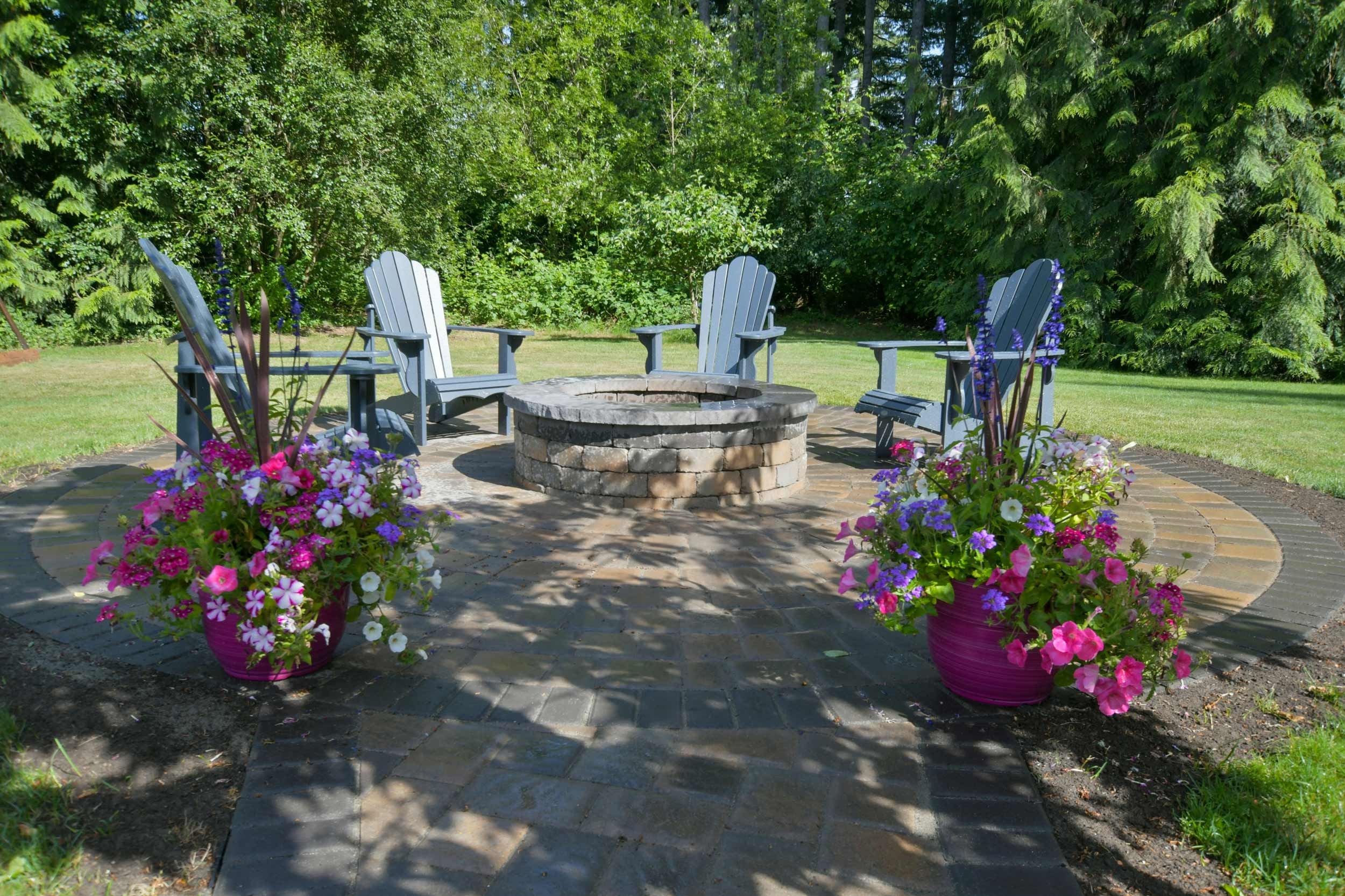 Paver walkway, patio and fire pit south of Tumwater