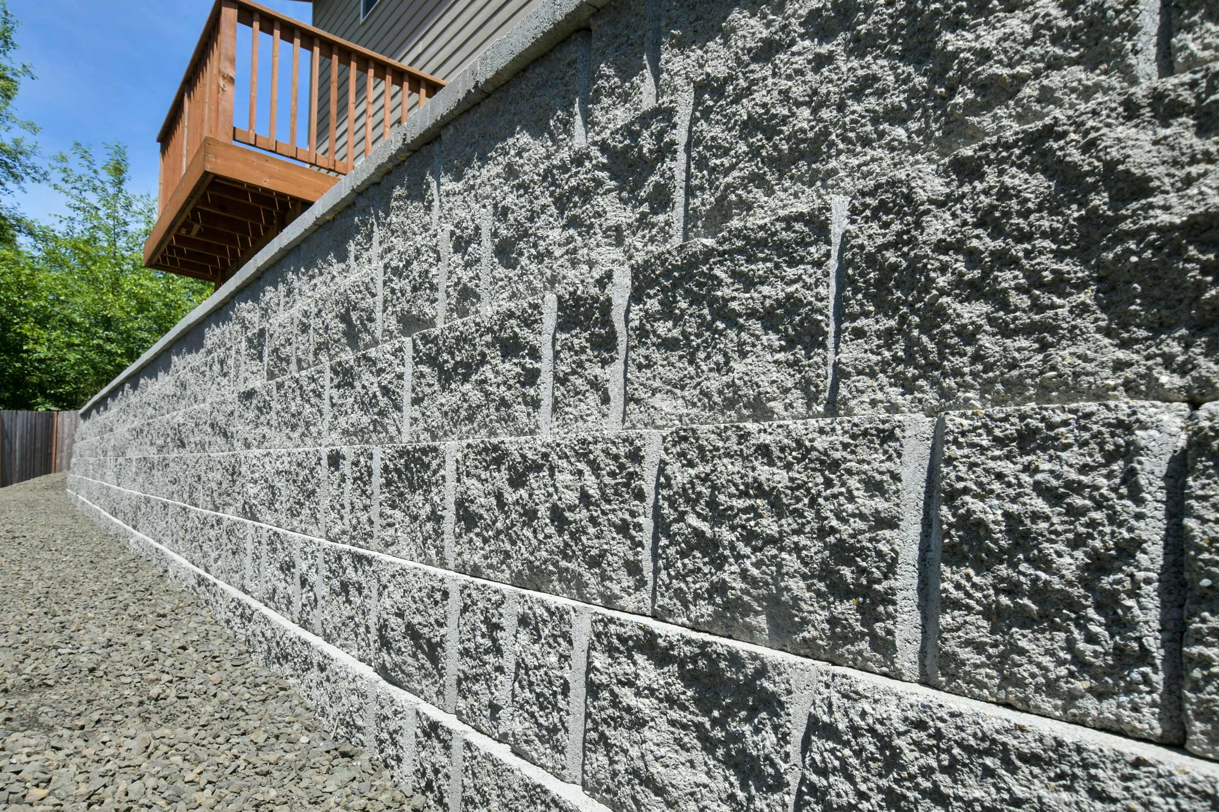 EnCore Basilte retaining wall