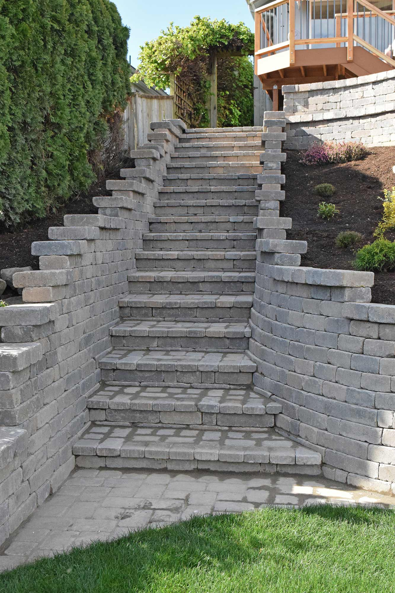 Paver Stairway, Bottom View Paver Stairway, Bottom View ...