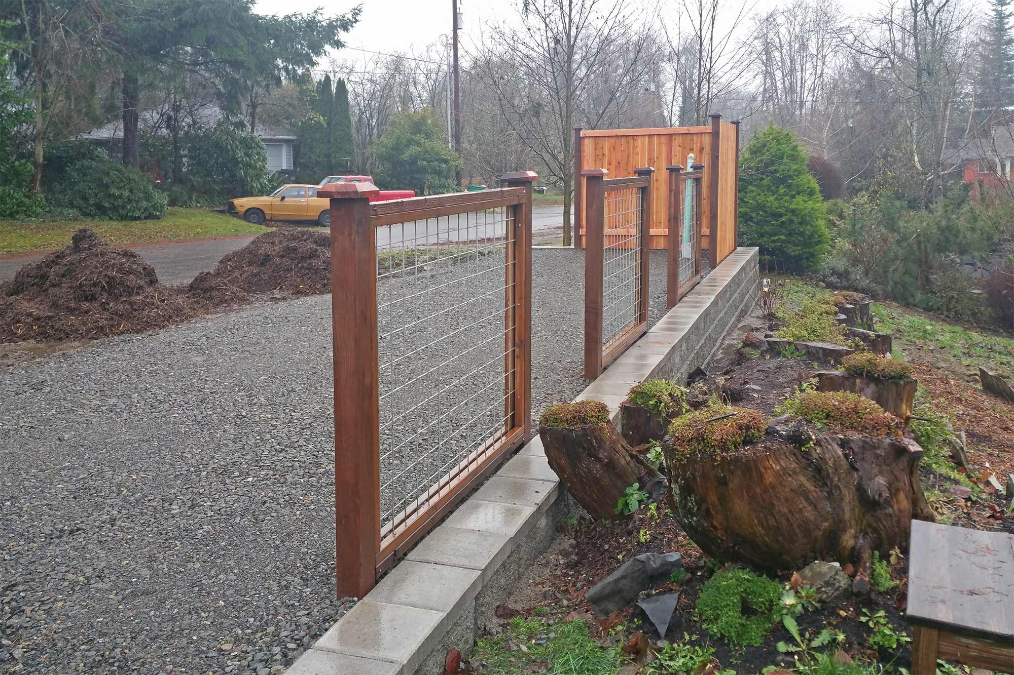 Raised Rv Parking With Hook Ups Ajb Landscaping Amp Fence