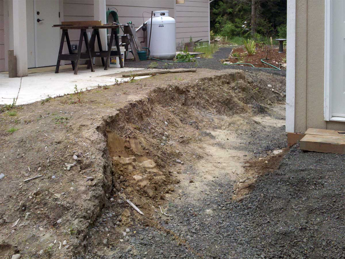 Small Retaining Wall Protects Against Erosion Ajb