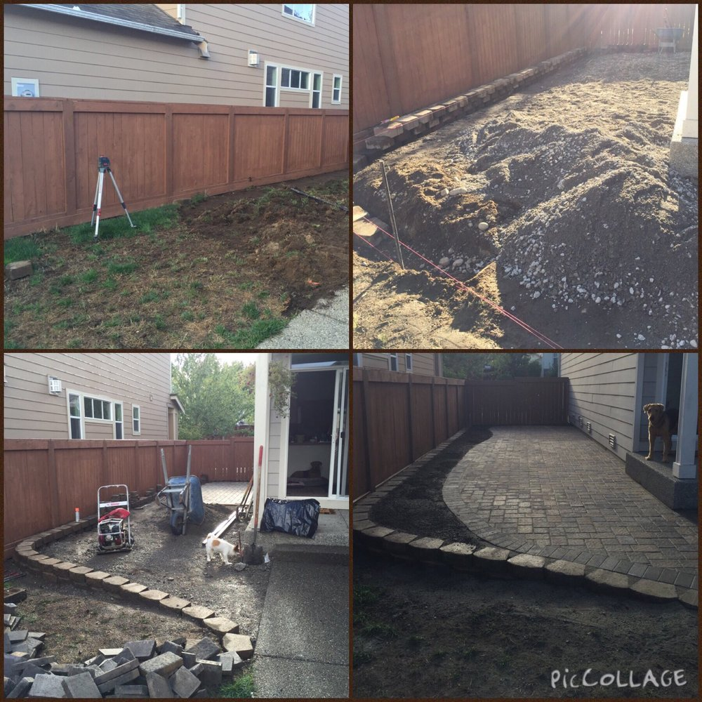 Lacey paver patio installation. Photo provided by Angela P.