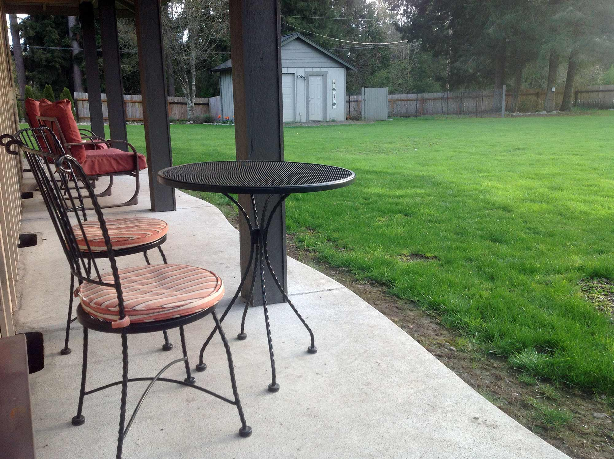 East Olympia Raised Patio AJB Landscaping & Fence