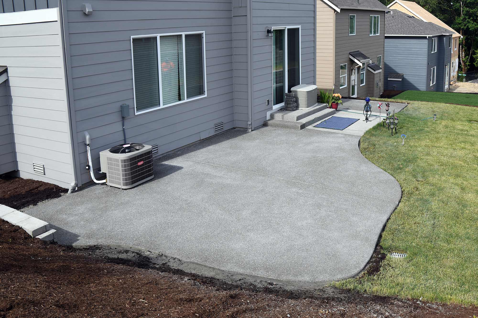 concrete and paver patio installation in olympia and tacoma  puget sound