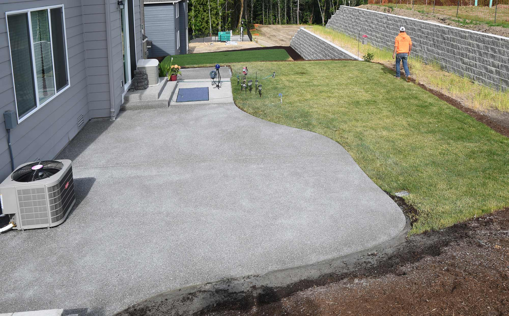 Hawks Prairie Concrete Patio Extension AJB Landscaping & Fence