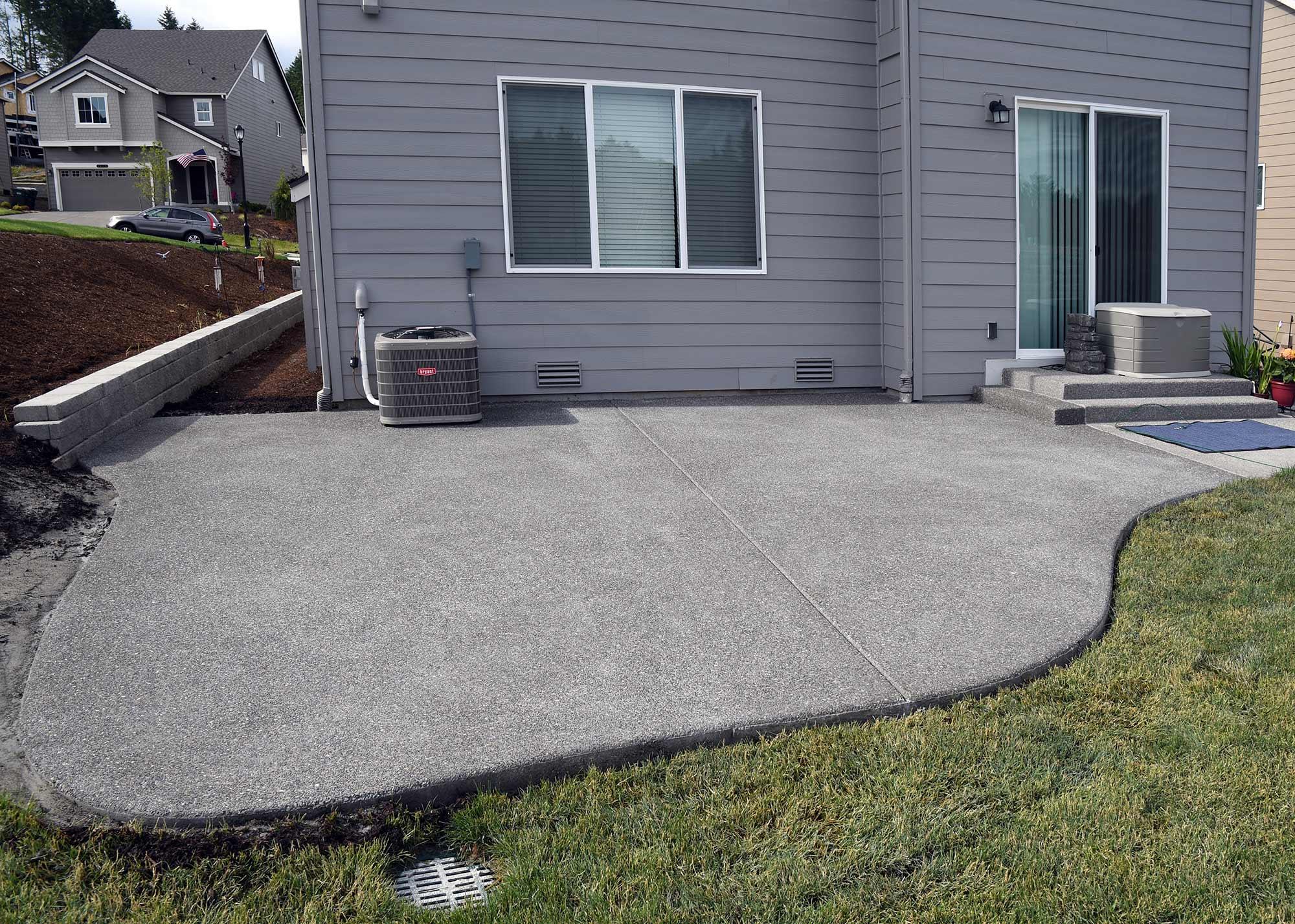 Hawks Prairie Concrete Patio Extension - AJB Landscaping ... on Backyard Patio Extension id=45421
