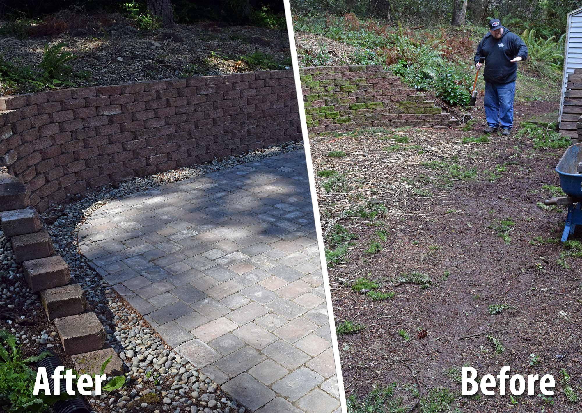West Olympia Paver Patio Extension AJB Landscaping & Fence