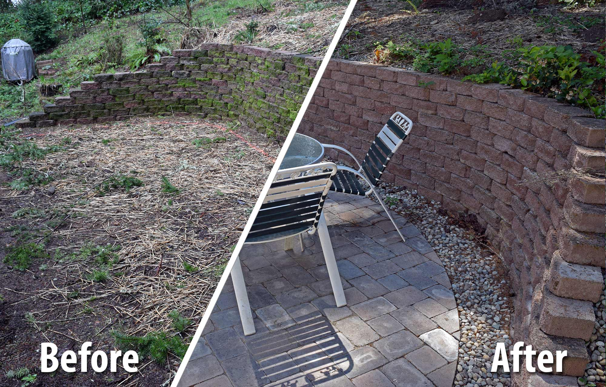West Olympia Paver Patio Extension - AJB Landscaping & Fence on Backyard Patio Extension id=30646