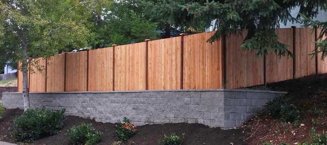 Wood fencing installation in Olympia, Tacoma