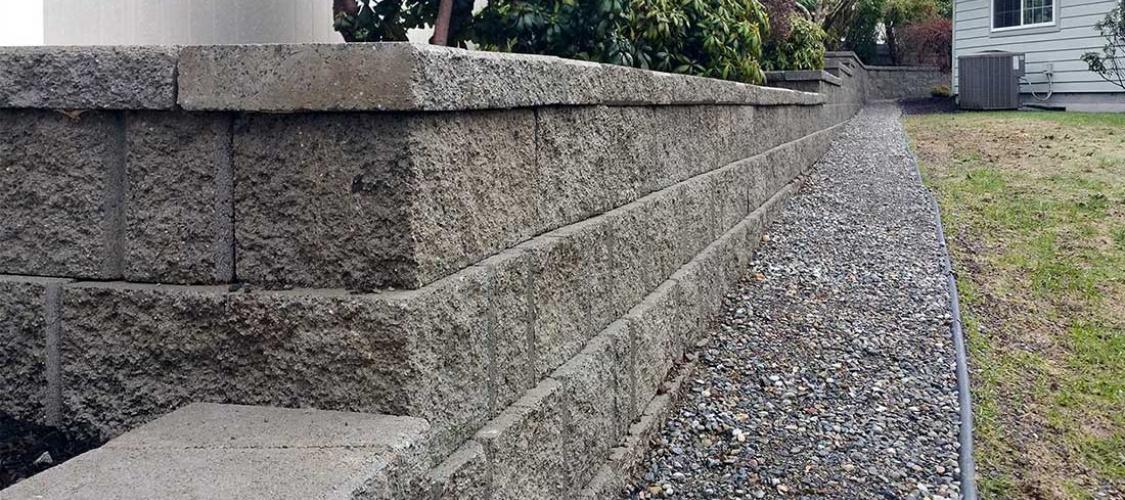 Retaining Wall installation in Olympia, Tacoma