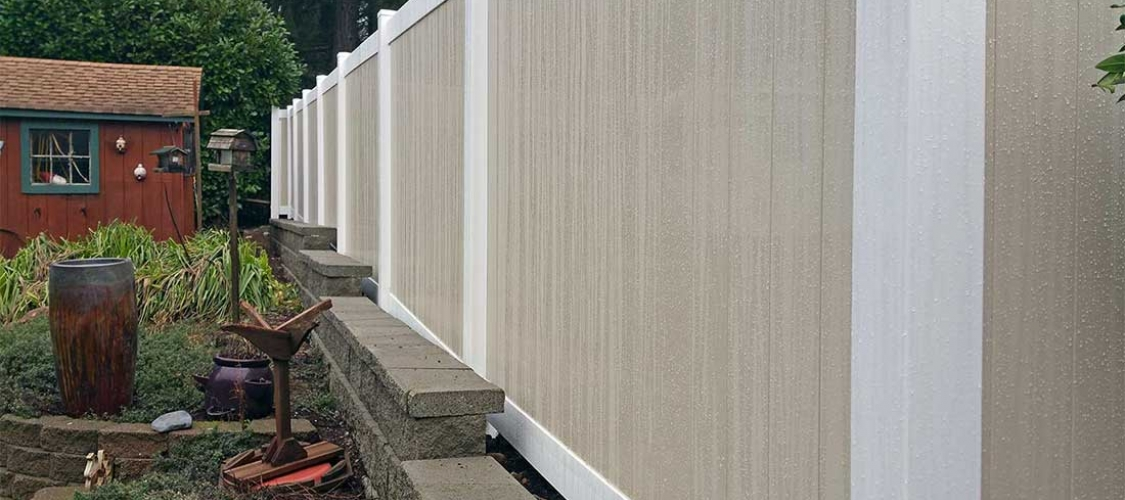 Vinyl fencing installation in Olympia, Tacoma