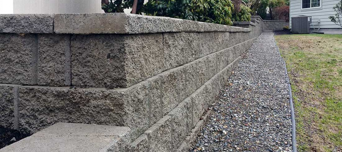 Retaining Wall installation in Olympia, Tacoma