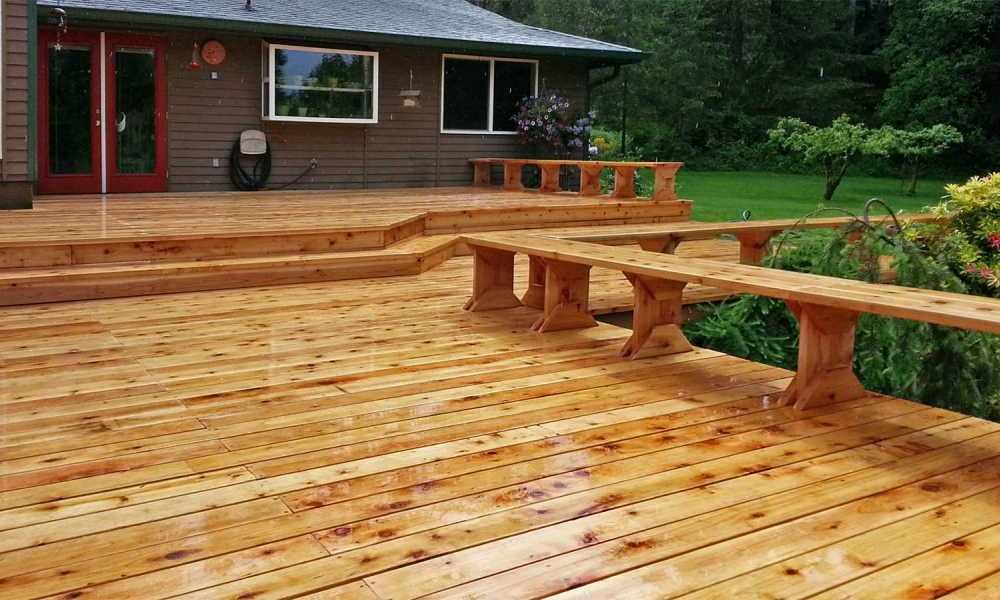 Cedar Deck Resurfacing