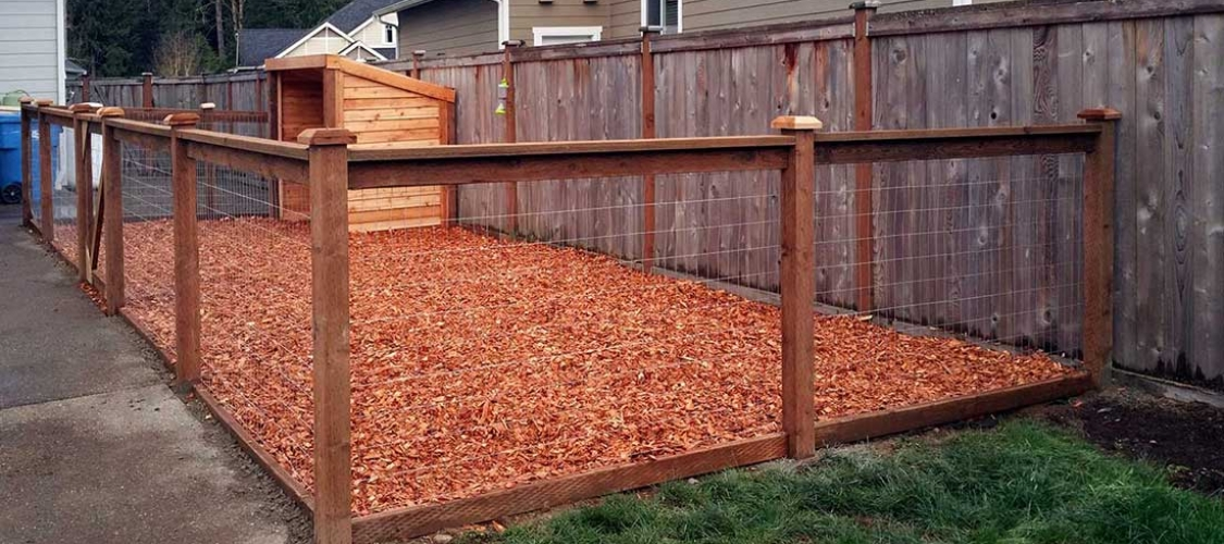 Kennel fence installation in Olympia, Tacoma